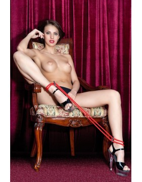 Wiązania-Theatre by Toyfa 702005 red cotton rope for legs bdsm Valentine day