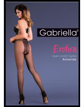 Bielizna-Rajstopy cienkie clasic EROTICA AMANDA Czarne XL/XXL