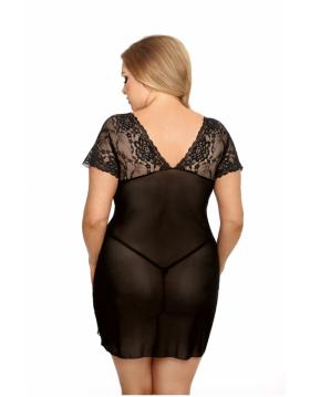 Marina black chemise XXL+ ( czarna halka )