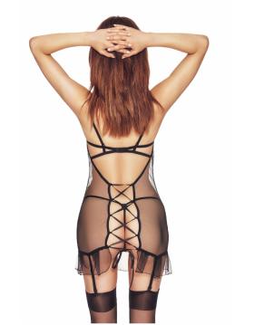 Luxx black XXL/XXXL (czarna halka&stringi/black chemise&string)