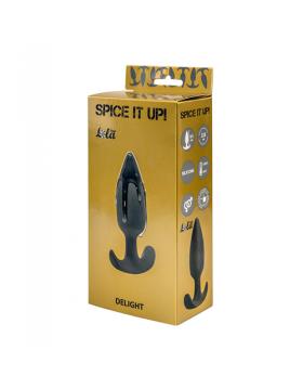 Plug-Anal plug with misplaced center of gravitySpice it up Delight Dark Grey