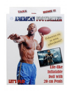 Lalka- American Footballer Male Doll