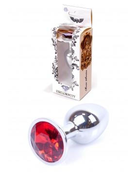 Plug-Jawellery Silver PLUG- Red