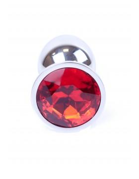 Plug-Jewellery Silver PLUG- Red