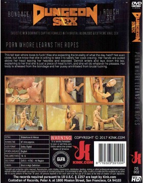 DVD-DUNGEON SEX Porn Whore Learns the Ropes