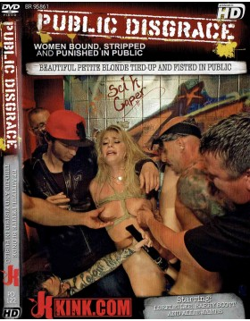 DVD-PUBLIC DISGRACE Beautiful Petite Blonde Tied-Up and Fisted in Public