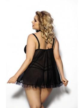 Fripa XL+ (chemise black/halka czarna)