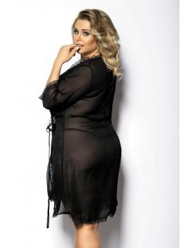 ISLLA black robe XXL+ ( czarny peniuar )