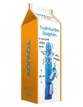 Wibrator-TWINTURBO DOLPHIN VIBR. BLUE