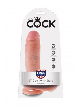 Dildo-COCK  8 INCH W/ BALLS FLESH