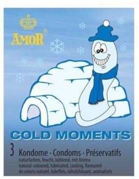 Prezerwatywy-Amor COLD moments 3pcs