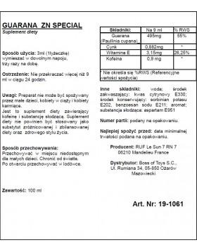 Supl.diety-GUARANA ZN 100 ML