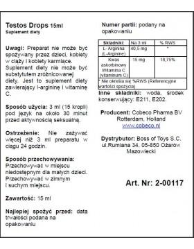 Supl.diety-Testos Drops (15ml)