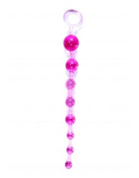 Plug/kulki-Jelly Anal 10 Beads Pink