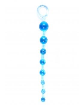 Plug/kulki-Jelly Anal 10 Beads Blue