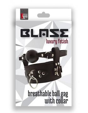 Knebel-BLAZE BREATHABLE BALL GAG WITH COLLAR
