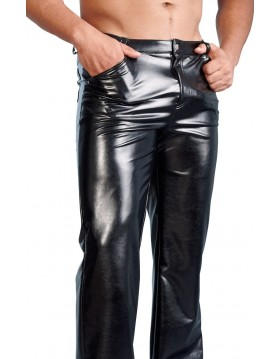 M. Imitat. Leather Trousers XL