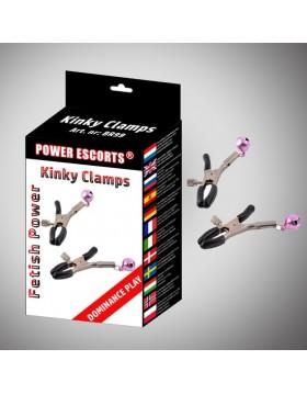 Kinky clamps black nipple clamps