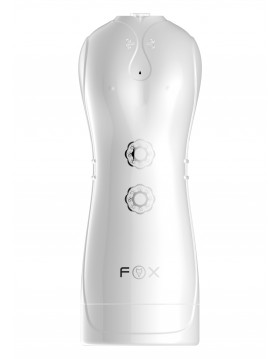 Masturbator-Vibrating and Flashing Masturbation Cup USB 7+7 Function / Talk Mode (White)