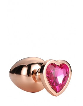 GLEAMING LOVE ROSE GOLD PLUG LARGE
