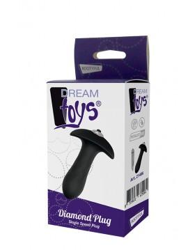 Plug/vibr-DREAM TOYS DIAMOND SINGLE SPEED PLUG