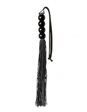 Pejcz-GP SILICONE FLOGGER WHIP BLACK