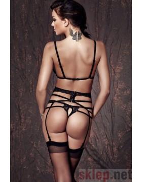 Bielizna - Sapphira 3pcs XS (biustonosz,string,pas/bra,string,garter belt)