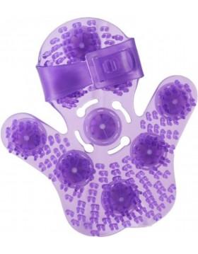 Roller Balls Massage Glove - Purple