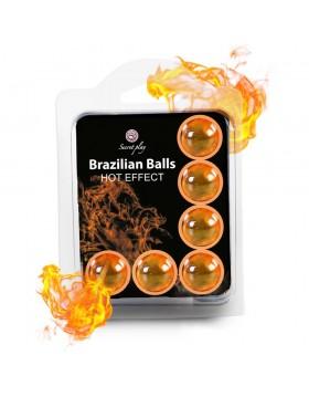 SET 6 BRAZILIAN BALLS HOT EFFECT