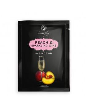 PEACH & SPARKLING WINE MASSAGE OIL 10 ML