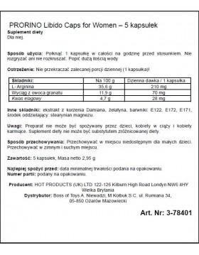 Supl.diety-PRORINO Women- 5pcs black line Libido Caps