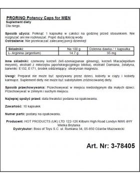 Supl.diety-PRORINO Men- 10pcs black line Potency Caps