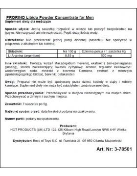 Supl.diety-ERO PRORINO black line potency powder concentrate