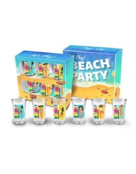 BEACH PARTY - zestaw 6 kieliszków junior 35 ml