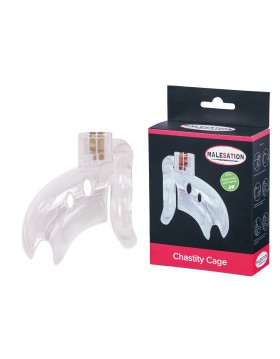 MALESATION Chastity Cage clear