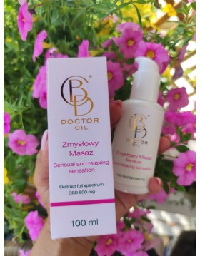 CBD DOCTOR OIL - relaxing sensory-stimulating lubricant with CBD extract 500 mg