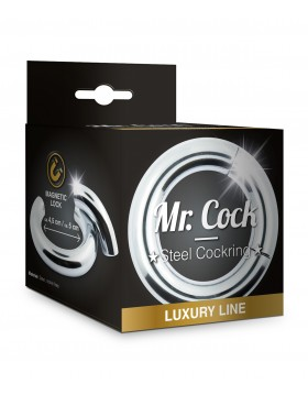 Mr.Cock Luxury Line Steel Cockring Magnetic Lock 45mm