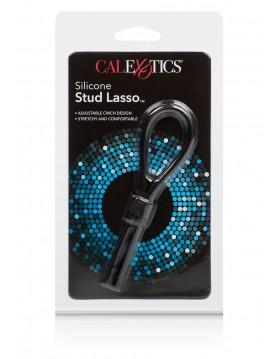 Pierścień-SILICONE STUD LASSO BLACK