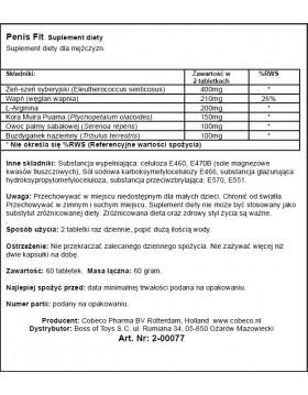 Supl.diety-PENIS FIT (60 PCS) LAVETRA