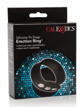 Pierścień-TRI-SNAP ERECTION RING BLACK