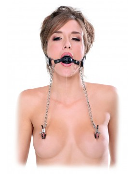 Knebel-FF EXTREME DELUXE BALL GAG & NIPPLE