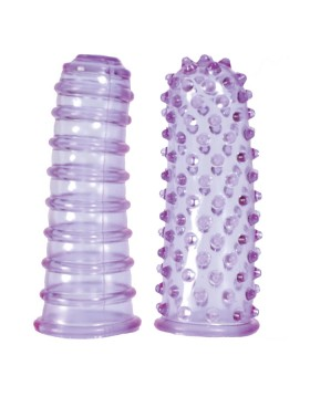 Stymulator-LUSTFINGERS SOFT + BUMPY PURPLE
