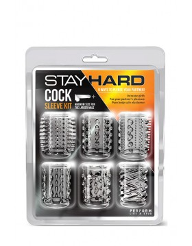 Stymulator-STAY HARD COCK SLEEVE KIT CLEAR